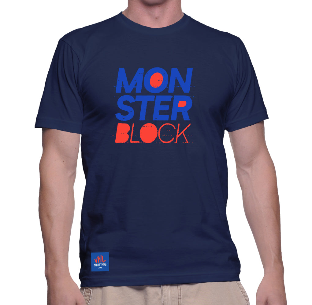 Mens Match Point Monster Block Tee Navy