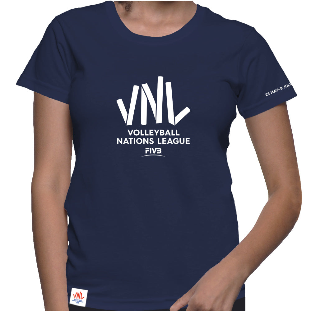 Ladies VNL France Tee Navy