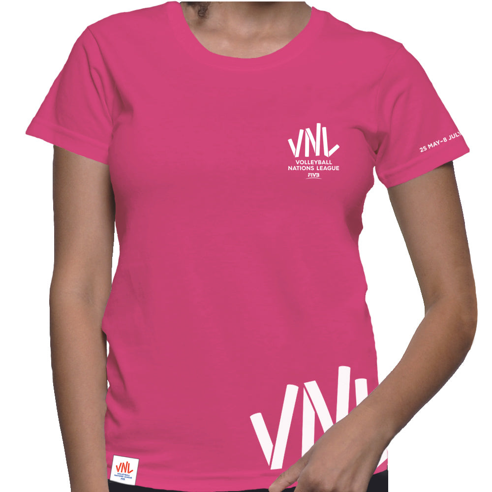 Ladies VNL France Tee Pink