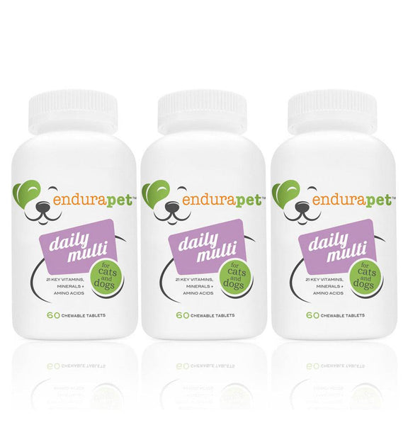endurapet® Daily Multi (3) pack Multi-Vitamins for Cats and Dogs