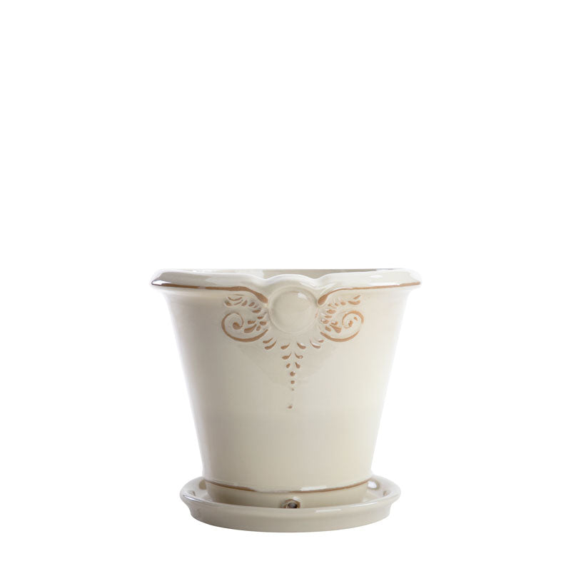 "SET VASO FRANCES 10.5""/1018; BEIGE NEUTRO BRILLANTE"