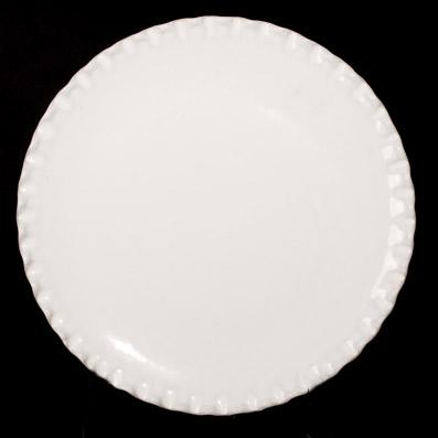 PLATO BASE ESCAROLA  Blanco Cristal