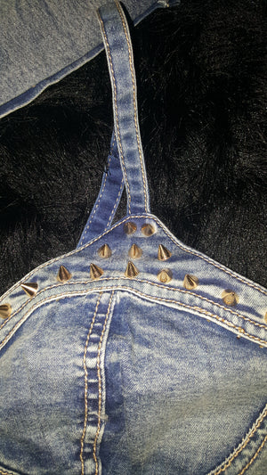 Denim Malibu Spiked Crop Top