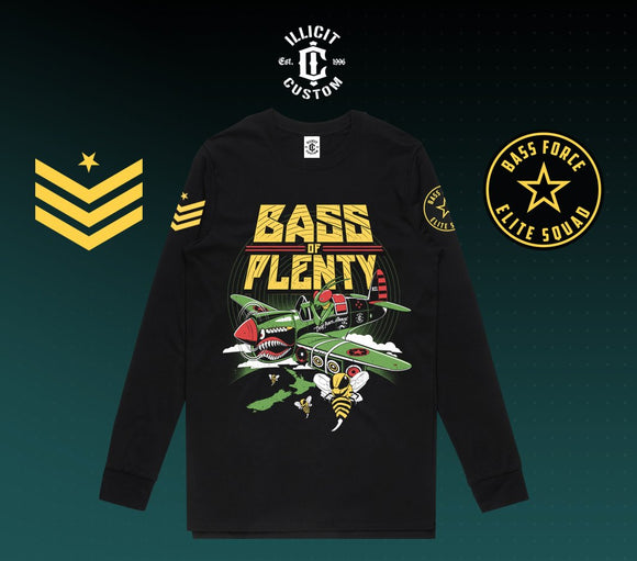Bass of Plenty - Elite Force LIMITED EDITION Long Sleeve - MENS