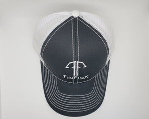 Trucker Black/White Logo Hat