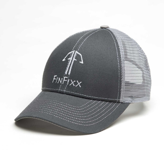 Trucker Logo Hat Grey/White