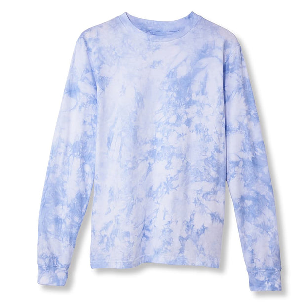 Primarie Tie Dye Long Sleeve T-Shirt in Blue