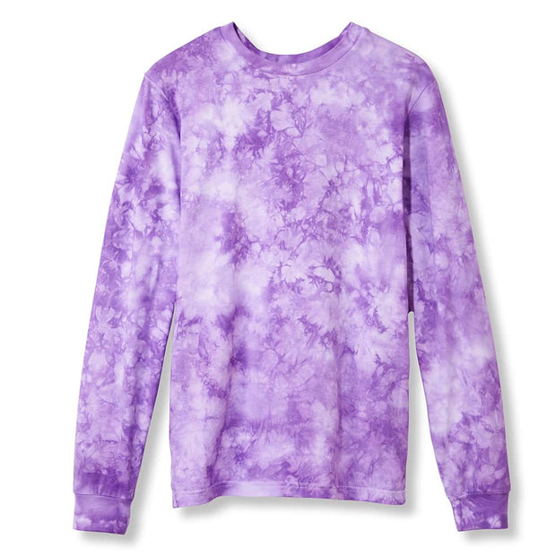 Primarie Tie Dye Long Sleeve T-Shirt in Lilac