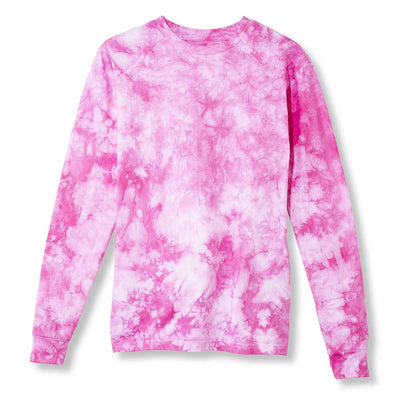 Primarie Tie Dye Long Sleeve T-Shirt in Pink