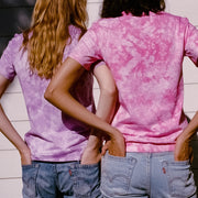 Primarie Tie Dye T-Shirt in Pink and Purple