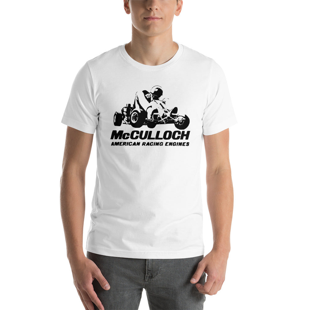 Vintage McCulloch Racing Engines Sprint Go Kart Premium Short-Sleeve Unisex  T-Shirt