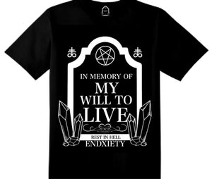 """In Memory of My Will To Live"" Tee (Unisex)"