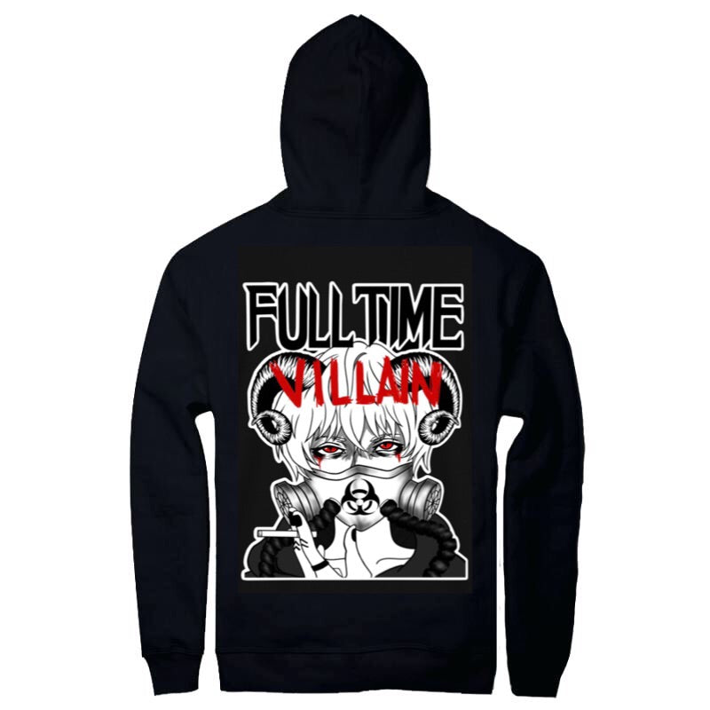 """Full Time Villain PullOver Hoodie"""