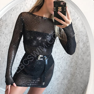 Glimmer mini dress - only