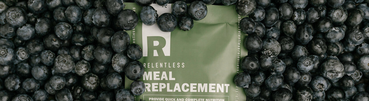 Relentless Nutrition Meal Replacemnet Blue Berry