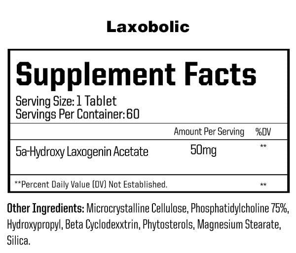 Laxobolic Anabolic Warfare Supplement Facts (2220733923382)