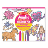 Jumbo Multi-theme Colouring Pad - Horses, Hearts, Flowers, and More