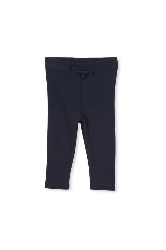 Milky Navy Rib Pants