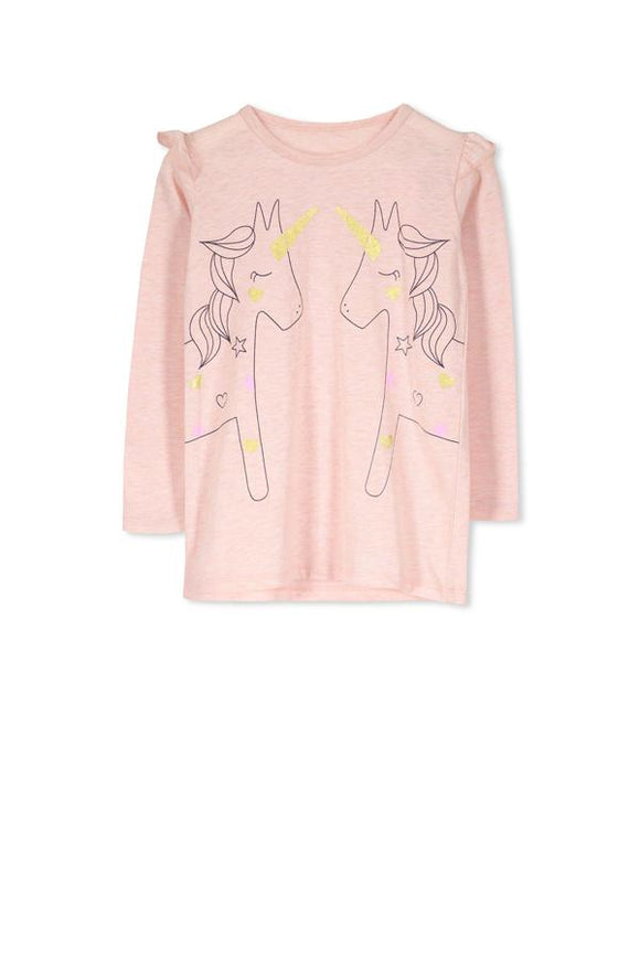 Unicorn Long Sleeve Girls' Tee