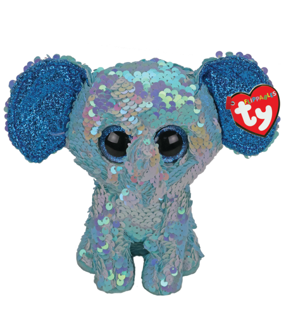 Ty Beanie Boos Flippables Stuart the Elephant (Medium)