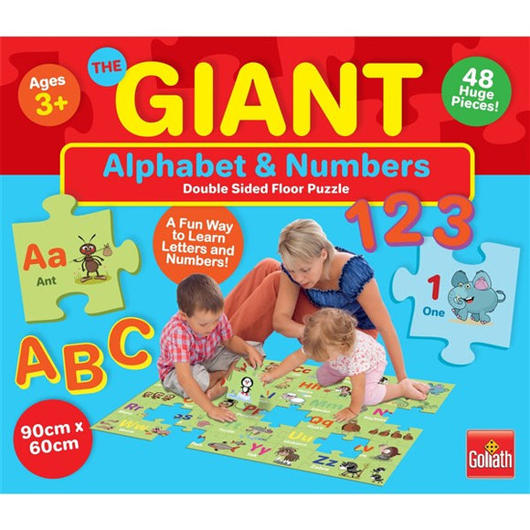 Giant Alphabet & Number 2 Sided Floor Puzzle