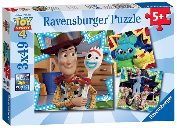Ravensburger Toy Story 4 Puzzle 3 x 49pc (5+)
