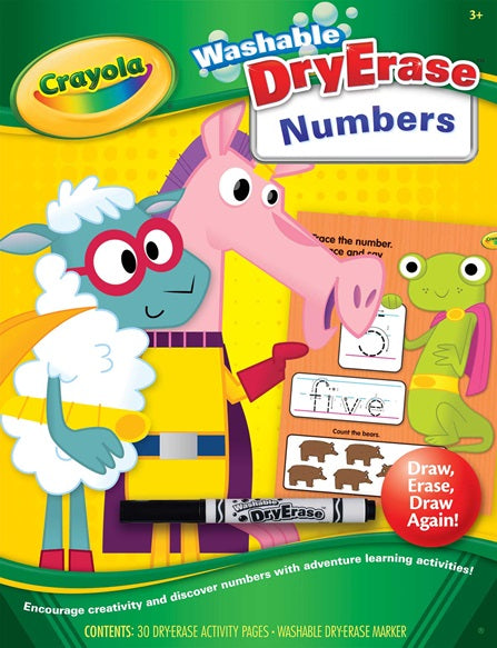 Crayola Numbers Workbook