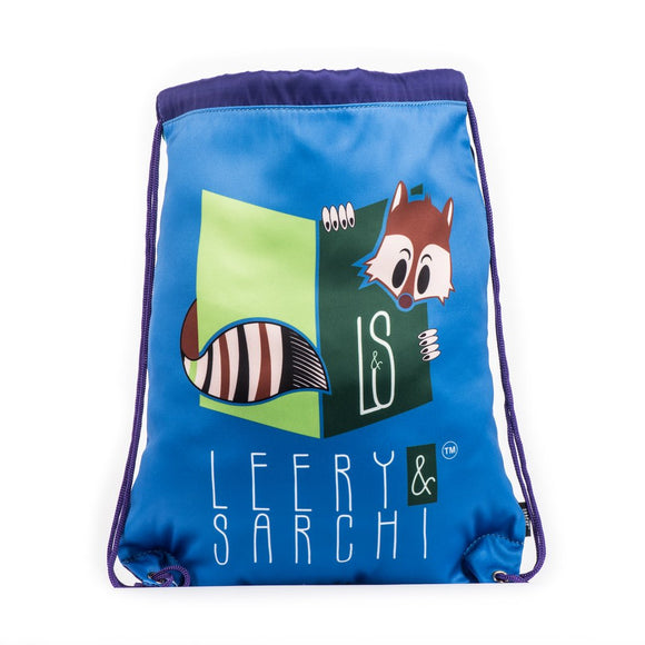 Drawstring Bag - Blue (Water Resistant)