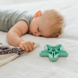 Little Woods Silicone Star Teether - Mint