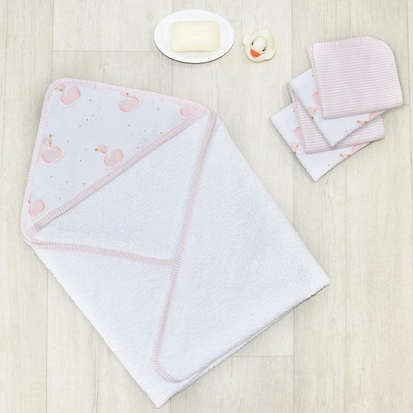 5pc Bath Towel Gift Set - Pink