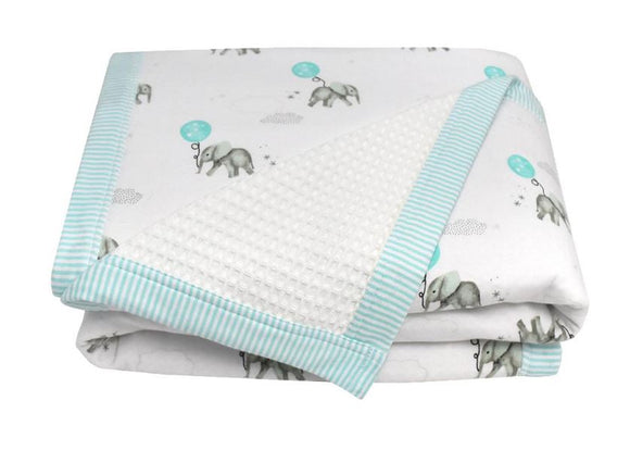 Cot Waffle Blanket - Blue