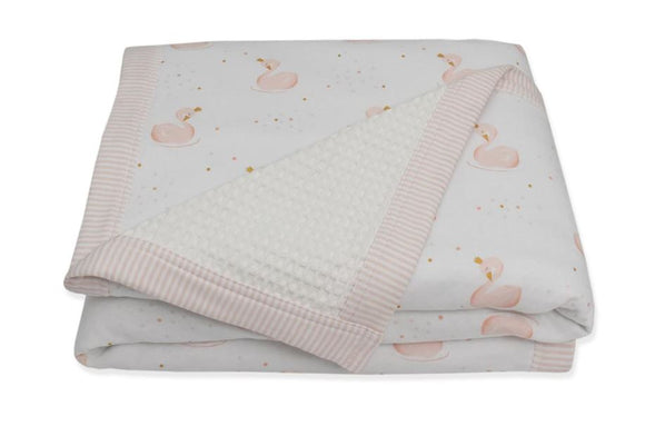 Cot Waffle Blanket - Pink