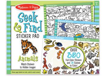 Melissa and Doug Seek and Find Sticker Pad - Animals