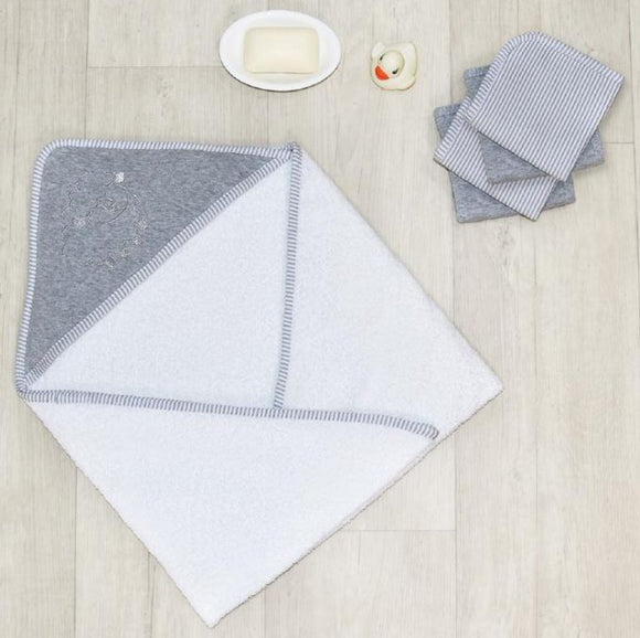 5pc Bath Gift Set - Grey