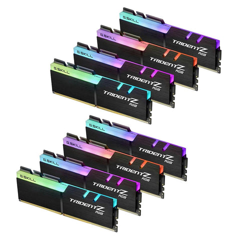 128GB (16GBx8) G.Skill Trident Z RGB DDR4 PC Desktop Memory PC27700 3466MHz CL16 KIT