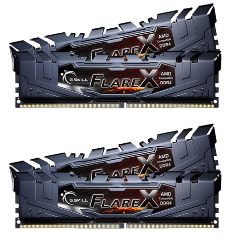 32GB (8GBx4) G.SKILL Flare X (AMD Ryzen) PC Desktop Memory DDR4PC4-19200 2400Mhz