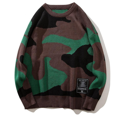 Camouflage Boom Sweater