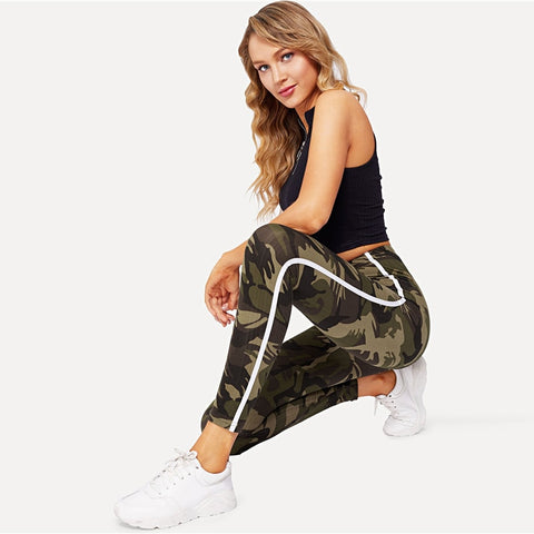 Camouflage Striped Leggings