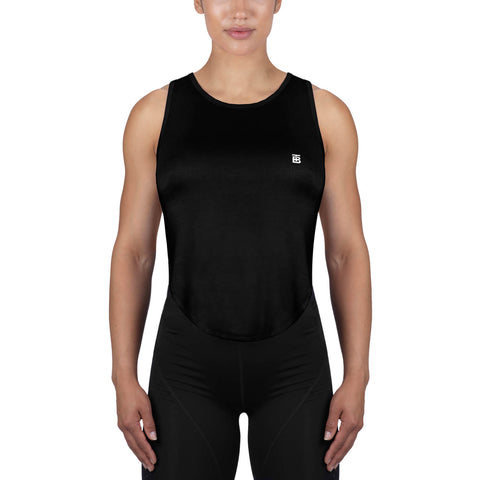 Born Tough Women High Altitude Sheer Tank Top Black