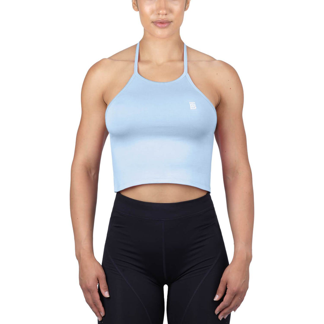Born Tough Women Core Sheer Halter Top Blue