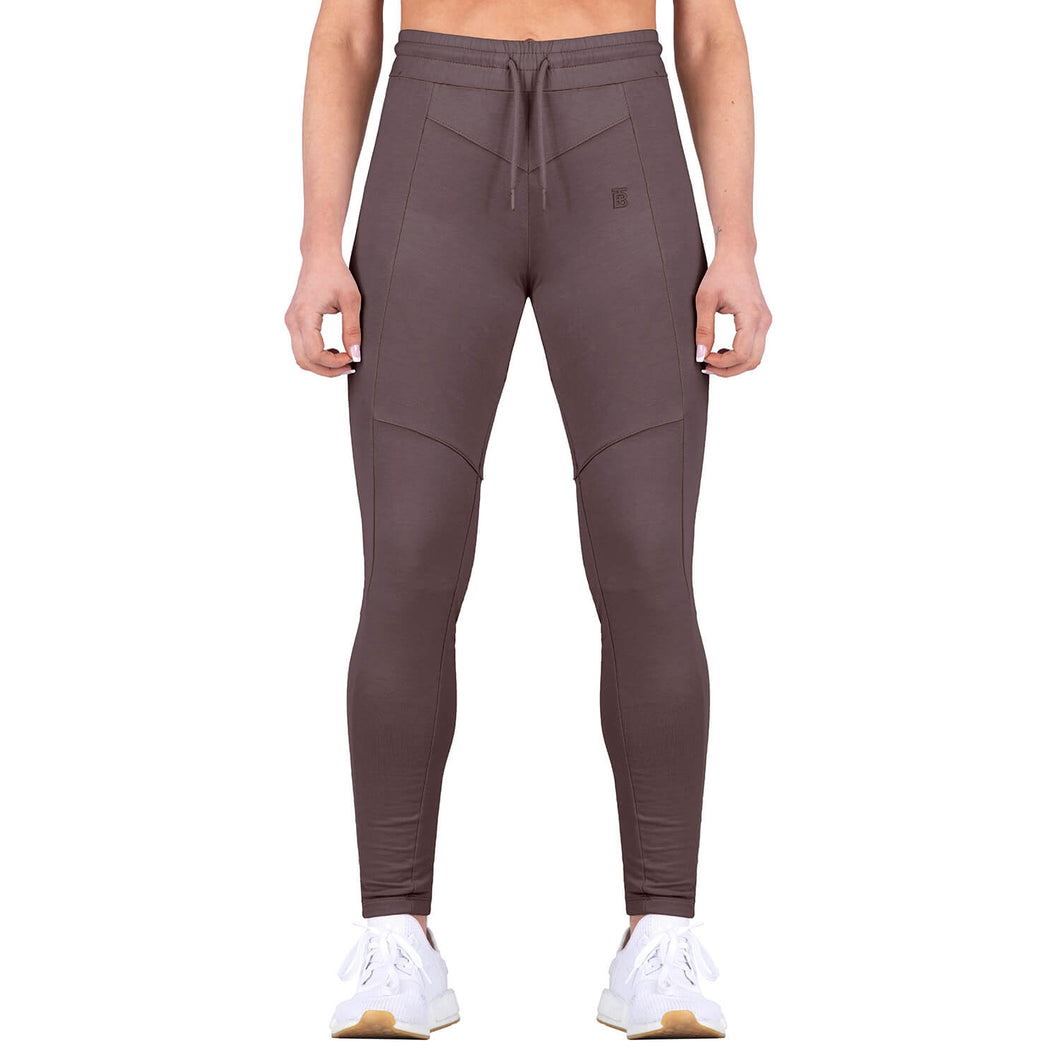 Born Tough Women Contoured Tracksuit Bottom Ash Brown
