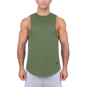 Born Tough Men Air Pro Fitted Tank Militry Green