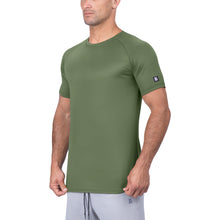 Born Tough Men Air Pro Fitted Tee Military Green