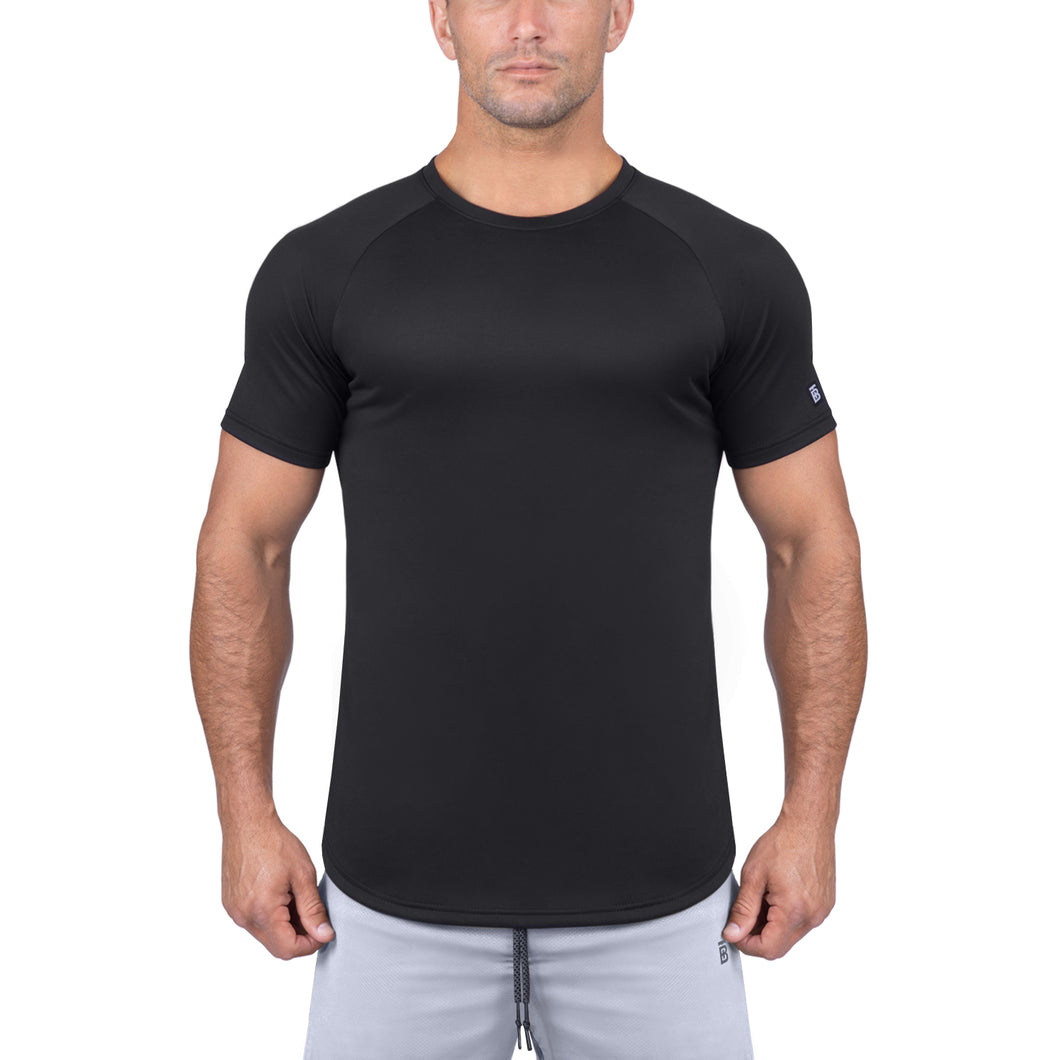 Born Tough Men Air Pro Fitted Tee Black