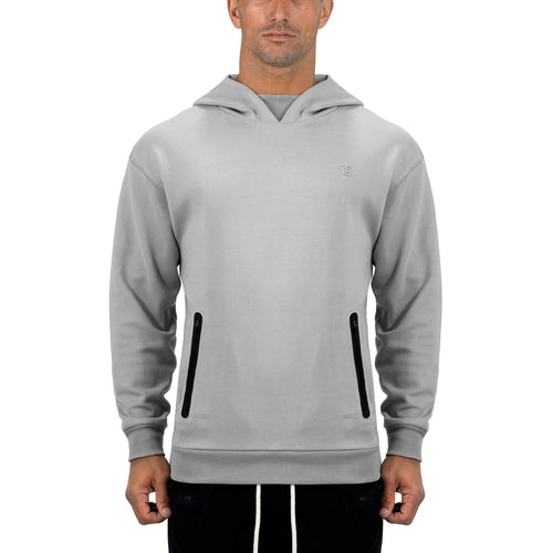Born Tough Men Core LS Hoodie Metal Gray