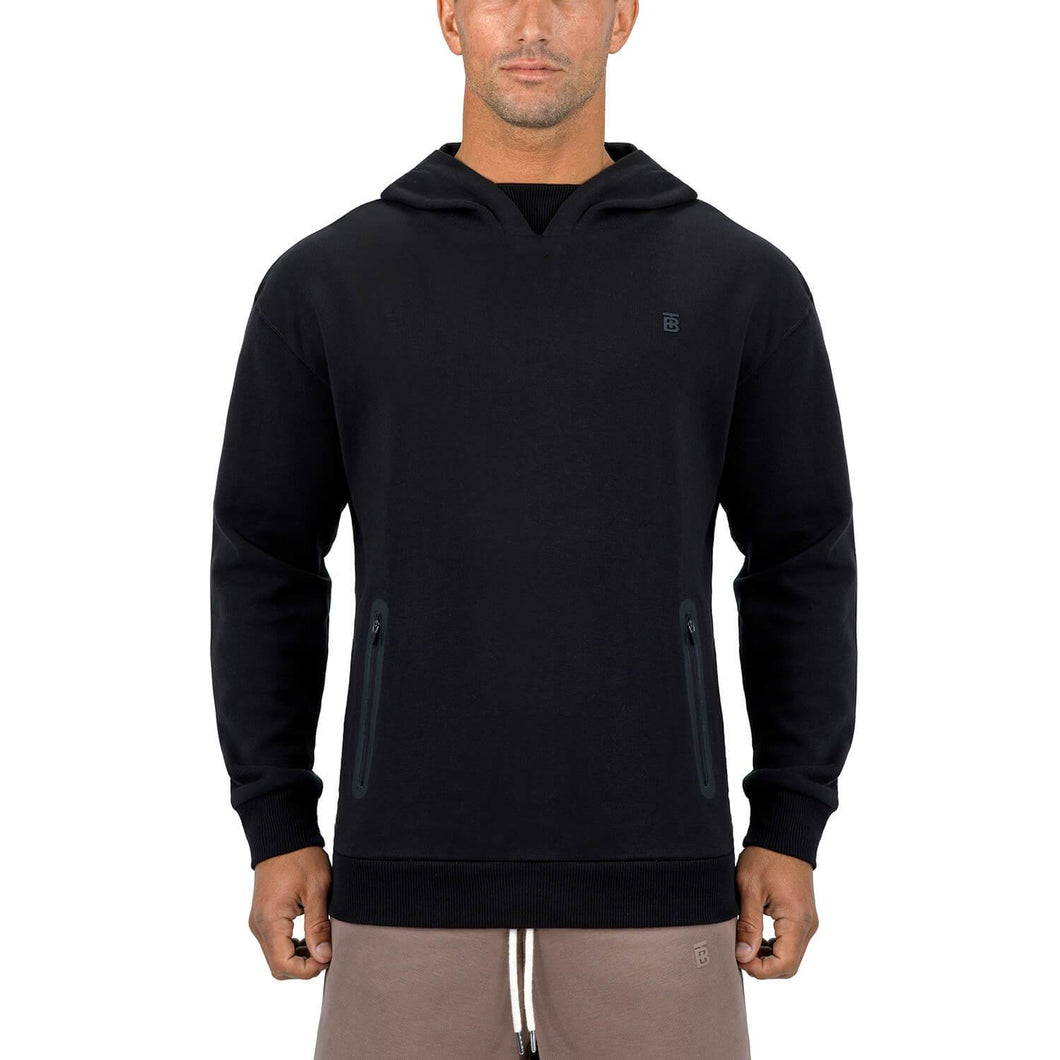 Born Tough Men Core LS Hoodie Black