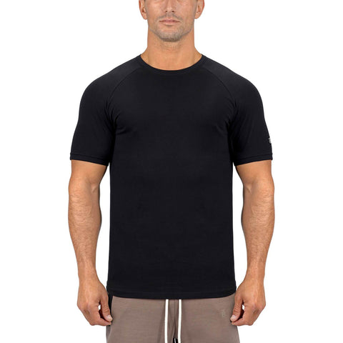 Born Tough Men Core Fit SS Shirt Black