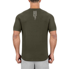 Born Tough Men Core Fit SS Shirt Army Green