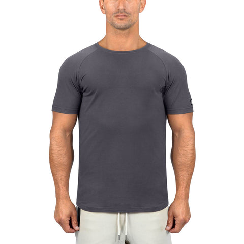 Born Tough Men Core Fit SS Shirt Gray