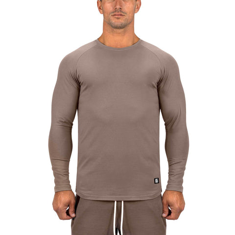 Born Tough Men Core Fit LS Shirt Lunar Rock